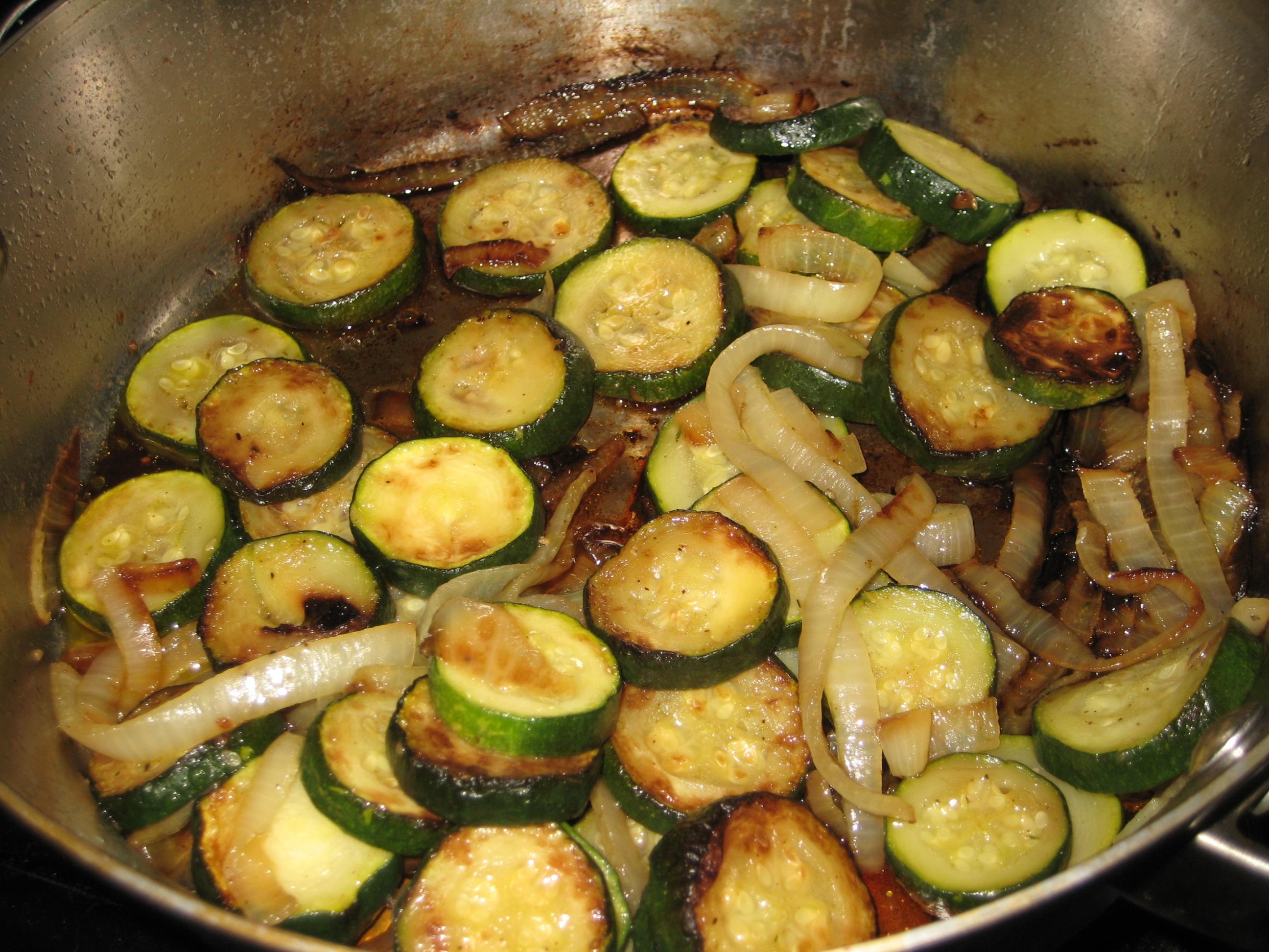 Sauteed zucchini and onions