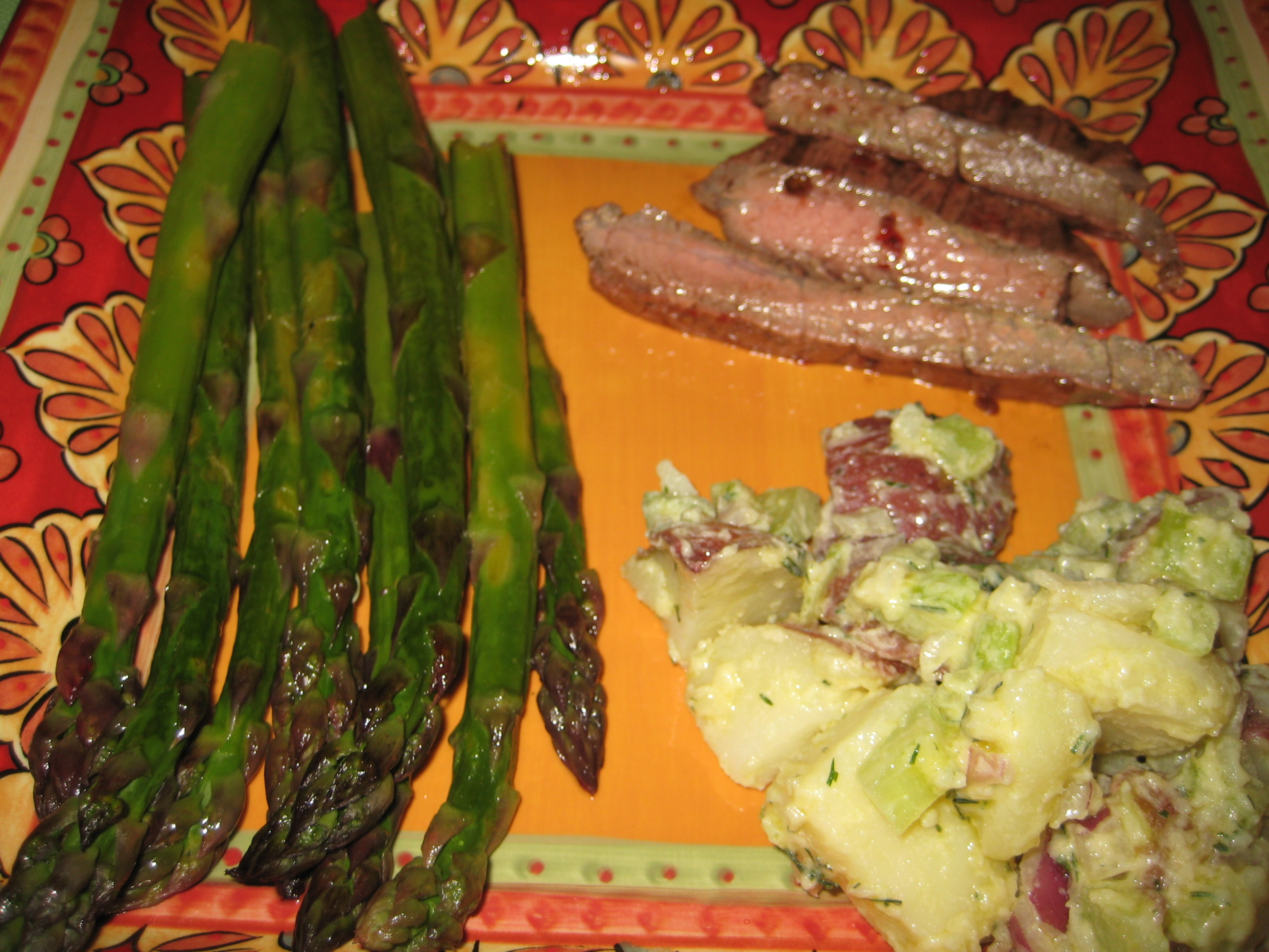Grilled flank steak is friends with almost any side, from asparagus to ...